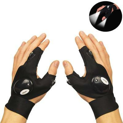 Finger Glove With LED Light Flashlight Tools Outdoor Gear Rescue Night Fishing • 6.29£