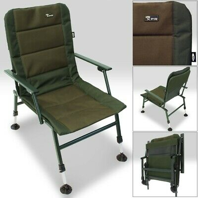 NGT XPR Carp Coarse Fishing Camping Chair Large Adjustable Mud Feet & Arm Rests • 59.95£