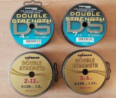 Drennan Double Strength Line 100m Spool • 4.95£