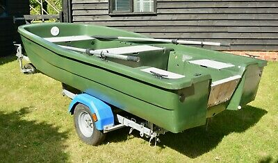 12ft Rigiflex Aquapeche Fishing Boat With Snipe Trailer, Good Condition,  • 620.19£