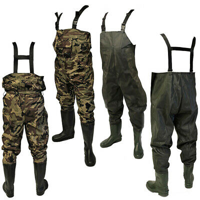 NEW PVC Waterproof Coarse Fly Fishing Tackle Chest Work Waders Size 7 8 9 10 11 • 34.95£