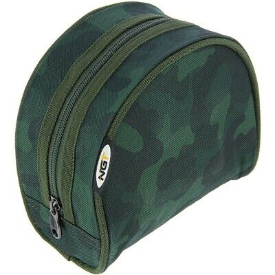 Deluxe Padded NEW CAMO Reel Case Bag Carp Coarse Match Pike Fishing Sea Tackle • 7.95£