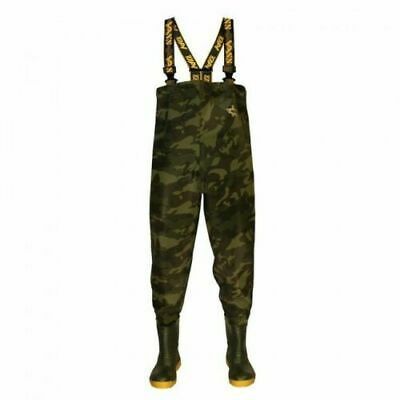 Vass 800 Series Camouflaged Chest Waders / Fishing Waders / Non Studded  • 94.75£
