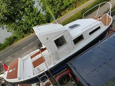 Ex Lifeboat ACHILLES Cabin Cruiser,Fishing Boat, 50Hp Diesel Inboard, Project • 2,000£