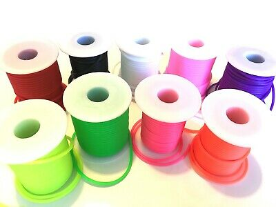 Synthetic Rubber Tube For Crafting (Neon, Fluorescent)  3mm Or 2mm • 12.99£