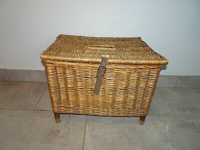 Vintage Wicker Fishing Basket Good Condition  • 39.95£