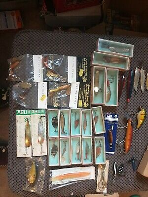 Vintage Fishing Tackle ,Abu ,Record ,milbro Lures Many Still Boxed. • 220£