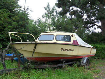 Used Boat Projects Microplus 501 GRP Cruiser Including Trailer • 510£