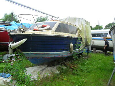 Used Boat Projects 24' TEAL INLANDER CABIN CRUISER • 620£