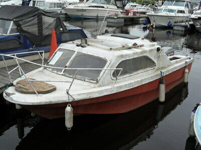 Used Boat Projects MICROPLUS  TYPE  16' GRP CABIN CRUISER/FISHING BOAT • 1,021£