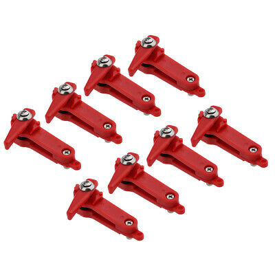 8X Red Padded Plastic Heavy Tension Snapper Weight Release Clip For Fishing • 13.57£