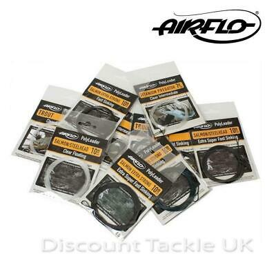 AIRFLO POLYLEADER  TROUT Or SALMON POLY LEADERS CHOOSE FROM ALL SINK RATES • 6.90£