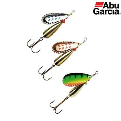 ABU DROPPEN SET OF 3 SPINNERS 6g 8g Or 12g SET TROUT SALMON LURE NEW COLOURS • 6.99£