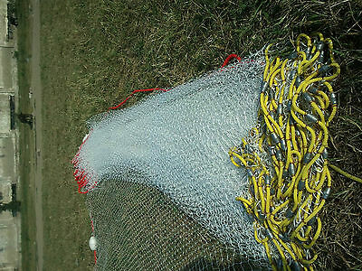 Sandeel/Minnow Seine Net 50' To120' Fishing Bait 5/8 Inch Mesh Optional Cod End • 120£