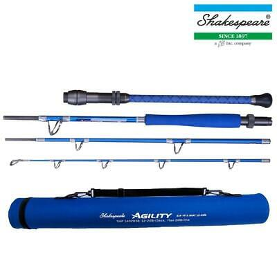 Shakespeare New Agility2 Exp 4 Piece Travel Boat Rod With Tube Sea Fishing • 54.99£