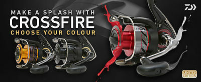 Daiwa Crossfire Limited Edition Reel - 2500 3000 Or 4000 Sizes • 33.99£