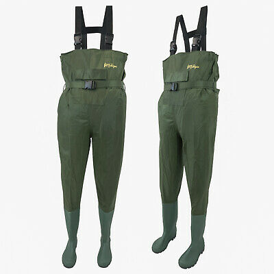 Fishing Chest Waders With Belt Sizes 6 - 12 Nylon Waterproof Fly Coarse Fishing • 17.99£