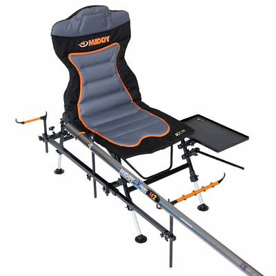 Middy MX-100 Pole-Feeder Recliner Chair Full Package Fishing 20494 • 152.95£