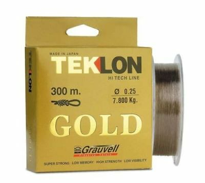 Grauvell Teklon Gold 300m Spools  All Breaking Strains Fishing • 14.95£
