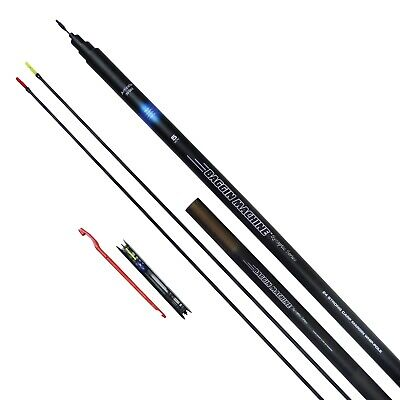 MIDDY Baggin Machine 5.5m Whip Pole  2 Top Kits Elasticated + Flick Tip + Rig • 34.95£