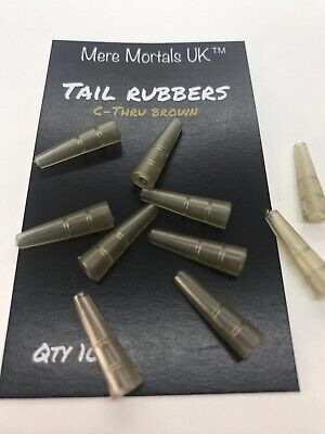 Tail Rubbers Carp Fishing Tackle Rubber Rig Cones Fits Safety Lead Clips  • 1.79£