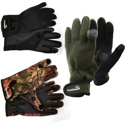Pro Climate Fishing Hunting Shooting Gloves Fold Back Fingers  • 6.89£