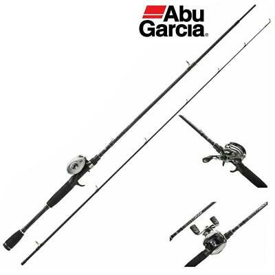 ABU SILVER MAX BAITCAST ROD & REEL COMBO - 6ft 6  PIKE PERCH FISHING • 79.99£