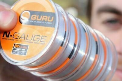 Guru N Gauge Pole & Rig Line Mono Fishing Line All Sizes • 5.95£