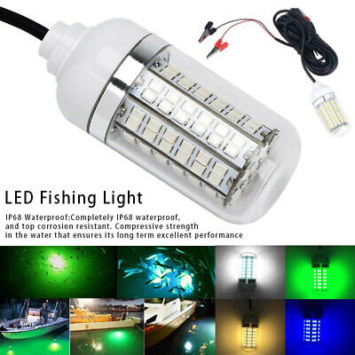 Waterproof LED Night Fishing Lights Underwater Fish Finder Lures Attractant Lamp • 12.89£