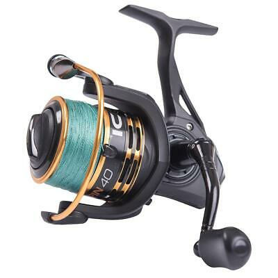 Leeda Icon Fishing Reel Spinning 40 With 20lb Braid Front Drag River C0671 • 32.99£