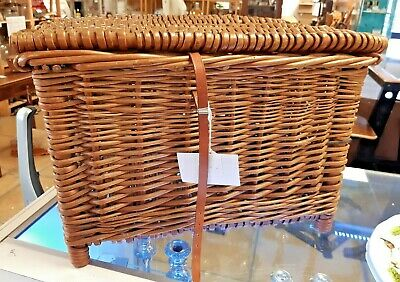 Vintage Wicker Fisherman's Basket/Seat • 30£
