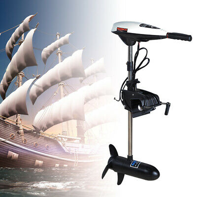 12V Electric Trolling Motor 45LBS Thrust Outboard Engine Fishing Boat Motor 480W • 118£