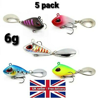 Spintails 6g Fishing Lures 5 PACK- Pike Perch Chub Trout - Spinmad Type • 9.95£