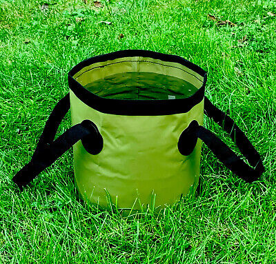 Collapsible Carp Fishing Bait Bucket, Groundbait Mixing Bowl, High Quality Green • 7.59£