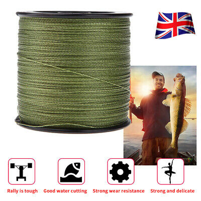 500M 30LB-100LB Fishing Line Strength PE Braided 4 Strands Sea Green Spod Marker • 8.99£