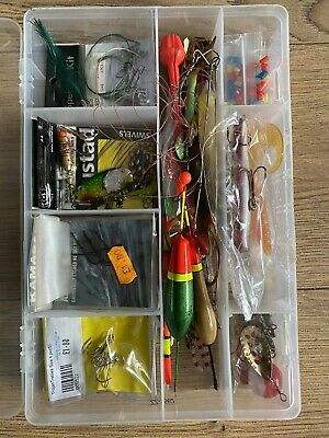 Assorted Fishing Tackle Bundle:Hooks - Lures - Floats - Mepps - Swivels - Trout • 8£