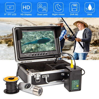 15M 30M 9  HD Fishing Camera Night Vision Dual Lens 8GB Fish Finder Waterproof • 175.67£