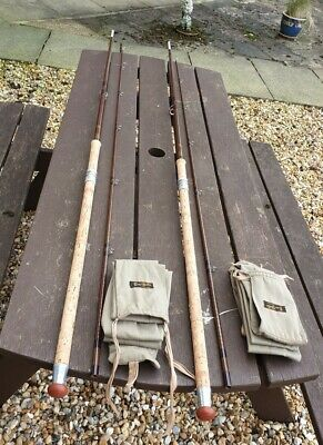 2 Superb Vintage B James Bruce & Walker Mk4 Stepped Up Carp Rods In Makers Bags • 399.99£