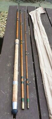A EX RARE VINTAGE MARTIN JAMES No1 BARBEL SPECIAL SPLITCANE ROD 12FT 2IN IN BAG • 129.99£