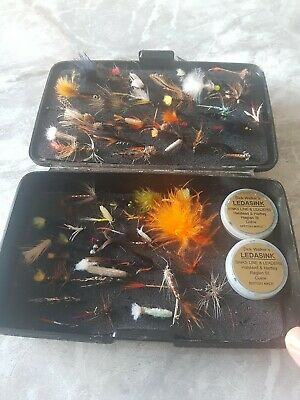 A Swedish Design Fly Fishing Box Wi A Wonderful Selection Of Trout And Salmon... • 12.50£
