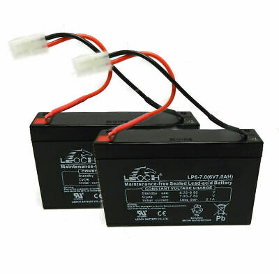2 X MICROCAT BAIT BOAT BATTERIES  6V 7AMP CHARGED READY TO GO FULL GUARANTEE • 27.99£