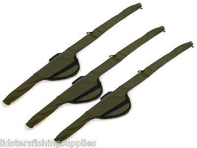 3 X NEW ROD + REEL HOLDALL SLEEVES BAG CARP FISHING PADDED FOR MADE UP CARP RODS • 39.95£
