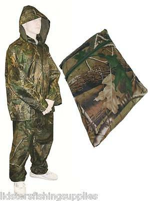 Camo Fishing / Hunting Waterproof Suit OverSuit 2pc Set Trousers + Jacket  • 21.12£