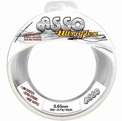 Asso UltraFlex Shockleader And Rig Body Sea Fishing Line  Spool All Sizes • 4.99£