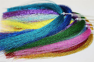 22 Colors Crystal Flash Holographic Tinsel Flashabou Sparkle Fly Tying Materials • 7.99£