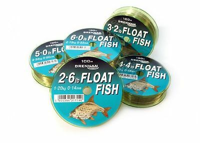 Drennan Float Fish Line - All Breaking Strains Available - 100m @ M H Tackle • 4.49£