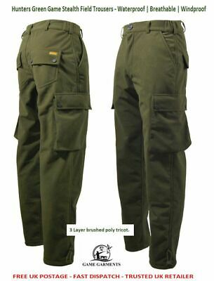 Stealth Hunter Green Field Trousers, Waterproof, Breathable & Silent. • 39.95£