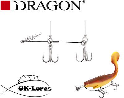 Dragon Stinger Leader Pike Lures Rig Corkscrew Predator Fishing Tacle Wire Trace • 4.99£