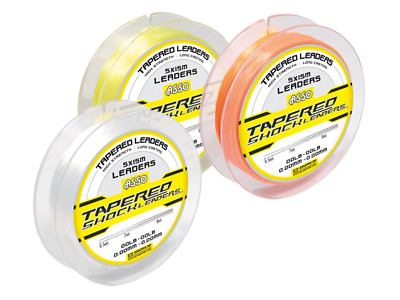 Asso Tapered Shock Leaders - (YELLOW / RED/CLEAR/ORANGE) • 9.60£