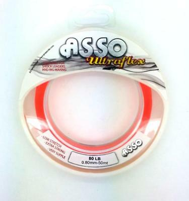 Asso UltraFlex Shockleader/Rig Body Sea Fishing Line Spool ORANGE All Sizes • 4.99£